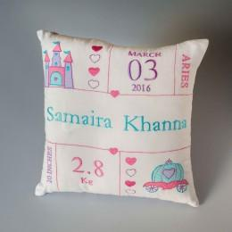 birth statistic pillows