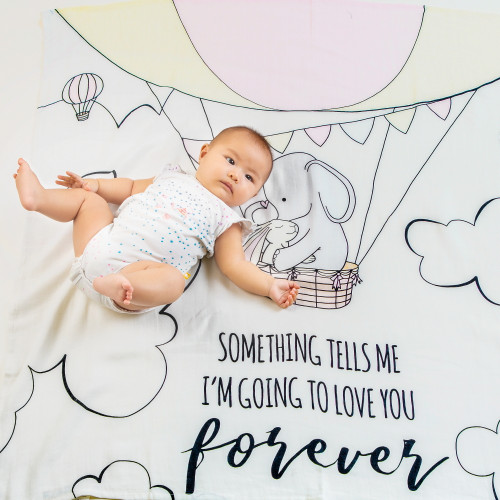 forever organic (personalized) swaddle