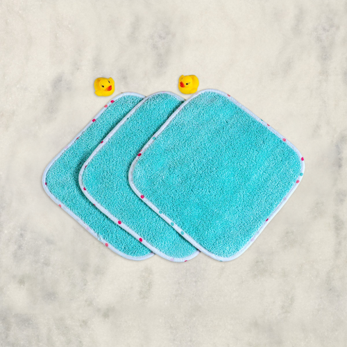 scoops & smiles washcloth set