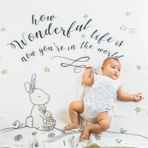 wonderful life organic (personalized) swaddle